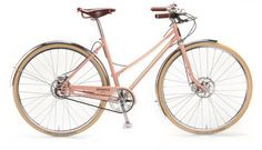 The Shinola women's Bixby bicycle riffs off the fun look of the curved top tube, but improves on the fit and function with nimble frame geometry and a Shimano 3-speed internal hub.