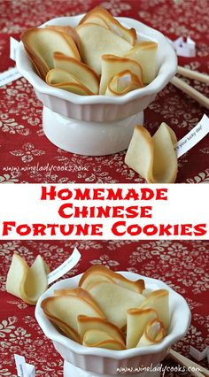 Homemade Chinese Fortune Cookies, only 4 basic ingredients, quick and easy and the kids can help. Click thru for the recipe.