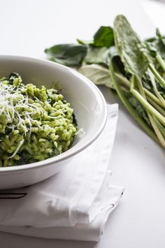 Light Spinach Risotto #cooking #spinach #risotto