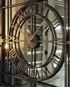 Mirrored Wall Clock 60 Quot D Round Mirror Roman Numeral