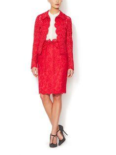 Lace Skirt Suit from Ultra-Feminine Designer Dresses  More on Gilt