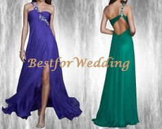 Cheap Aline Long Prom Dresses 2014 Purple by BestforWedding, $118.90