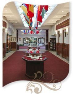 This Was The Hall Of Flags And Bible Collection At #PremierDesigns Home  Office In Irving
