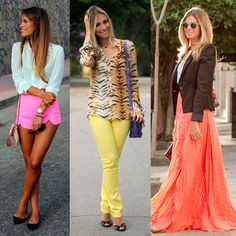 Neon lavado [Sinapse Fashion] True Beauty, Her Hair, Casual, How To Wear, Outfits, Clothes, Animal, Women, Neon