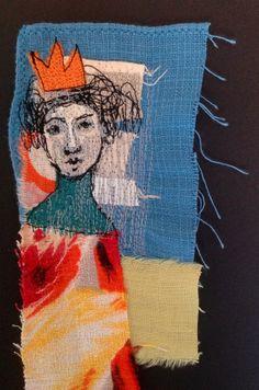 Queen of Sheba.  Machine embroidery (detail). mrsbertimus.blogspot.com