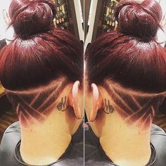 ladies undercuts for long hair Undercut Hairstyles, Pretty Hairstyles, Wavy Haircuts, Hair Styles 2016, Short Hair Styles, Undercut Hair Designs, Hair Patterns, Hair Tattoos, Hair Color And Cut