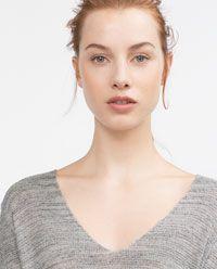 Image 5 of V-NECK SWEATER from Zara Zara Women, Knitwear, V Neck, Sweaters, Image, Decoration, Fashion, Faces, Decor