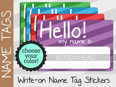 10 Hello My Name Is Stickers Tags Party Cl Family Reunion Sticker