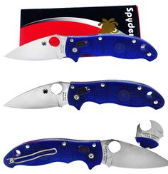 Butchering Knives and Tools 178084: Spyderco Manix2 Bd-1 Plain Blade Blue Frcp Handle Folding Knife C101pbl2 New BUY IT NOW ONLY: $83.97