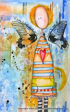 <3 love this. Kathryn's Art journal pages are just amazing!! The Kathryn Wheel: My Art Journal