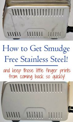 Clean and shine your stainless steel with this one thing and it will repel fingerprints and smudges! #SteelMeister #ad