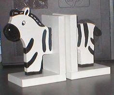 Zebra Bookends by JDWhimsy on Etsy, $24.50