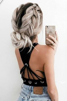See our collection of easy hairstyles that are just the perfect for spring break as it is the time to have fun. Popular Hairstyles, Trendy Hairstyles, Festival Hairstyles, Wedding Hairstyles, Natural Hairstyles, Cute Everyday Hairstyles, Summer Hairstyles For Medium Hair, Teenage Hairstyles, Easy Braided Hairstyles