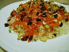 qabali-pilau afghan rice with carrots and raisins
