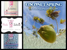Coconut Spring Recipe for Pink Zebra Sprinkles. www.pinkzebrahome.com/dclapp