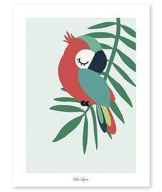 Folk Art Flowers, Flower Art, Deco Jungle, Baby Posters, Vinyl Wall Stickers, Wall Decals, Wall Art, Little Birds, Bird Art