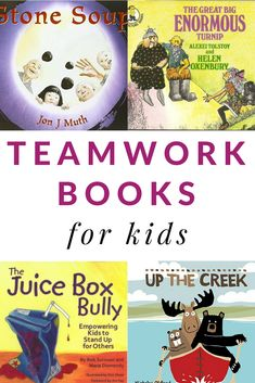 Great books to read and discuss with kids about the character strength of TEAMWORK. These books about teamwork for kids will strike up great conversations in the classroom and at home. #teamwork #charactereducation #booksforkids via @growingbbb