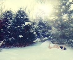 Trash the Dress  Beautiful shot in the snow