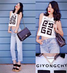 Romwe Top, Jeans, Choies Necklace (Worn Back Side As Front), Chanel Bag, Zara Heels