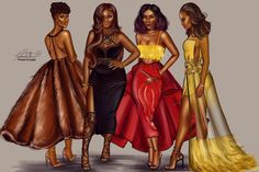 My Spice Girls #fashionillustration