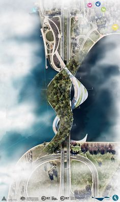 cx landscape introduces ribbons of green life in canberra's new pedestrian bridge Bridges Architecture, Cultural Architecture, Landscape Architecture Design, Classical Architecture, Ancient Architecture, Landscape Architects, Urban Architecture, Landscape Designs, Contemporary Architecture