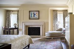 Traditional Bedroom with chaise in Washington, DC by Thad Hayes