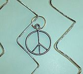 Peace Sign Pendants Hand Made From the Actual 1969 Woodstock Festival Fence