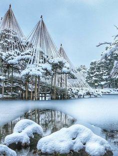 Kenroku-en Garden, Kanazawa, Ishikawa, garden, winter