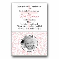 Personalised Invitations Invites 1st First Holy Communion H125 - Add a photo | eBay