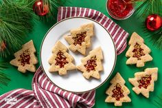Christmas Tree Chocolate Strawberry Linzer Cookies | Imperial Sugar Chocolate Chip Cookie Mix, Chocolate Sugar Cookies, Christmas Tree Chocolates, Christmas Cookies, Christmas Baking, Coconut Date Balls, Danish Cookies, Sugar Cookie Cups, Linzer Cookies