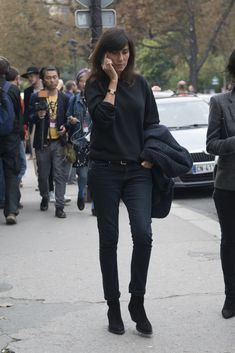 How To Style Jeans Like French Vogue's Emmanuelle Alt   StyleCaster