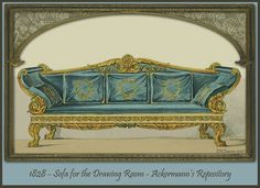 Regency Furniture 1823-1828: Ackermann's Repository Series 3.   A variety of furnishings from this time period can be seen at http://www.ekduncan.com/2012/01/regency-furniture-1823-1828-ackermanns.html#