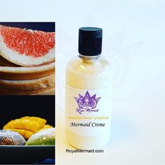 Brazilian Mango Grapefruit Lux Mermaid Creme  Take our quiz to find your perfect fragrance! RoyalMermaid.com #royalmermaid #thecaptain #nomoredryskin #soothing #eczema #hormonesafe #pcossafe #pcos #psoriasis #shopsmall #gifts #birthday #bathfizzies #cleanser #skinpolish #mermaid #mermaidcreme #seasoak