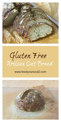 Gluten Free Artisan Oat Bread from Feed Your Soul Too Gluten Free Baking, Gluten Free Recipes, Gluten Free Artisan Bread, Great Recipes, Favorite Recipes, Amazing Recipes, Delicious Recipes, Good Food, Yummy Food