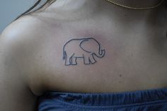 elephant basic design. Works with the colored chain layout