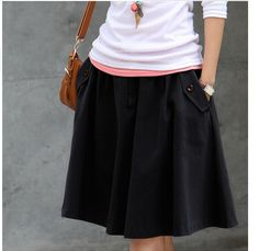 Fashion Skirts Women Spring Autumn High Waist Pleated Skirt Vintage Elegant Slim Casual Skirt Plus Size Midi Skirts For Women