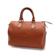 Louis Vuitton Speedy 25 Epi Handle bags Brown Leather M43013