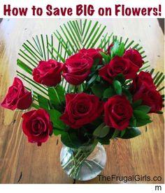 How to Save BIG on Flower Arrangements! ~ via TheFrugalGirls.com #flowers #centerpieces