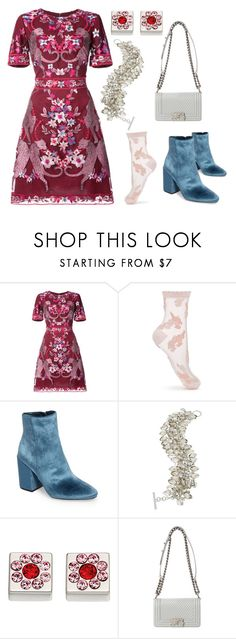 """""""Embellished"""" by leslie-safari ❤ liked on Polyvore featuring Notte by Marchesa, Miss Selfridge, Vince Camuto, ABS by Allen Schwartz and Orla Kiely"""