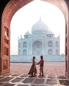 "TOM & TAHNEE ☾ on Instagram: ""'Did you ever build a castle in the air? Here is one, brought down to earth and fixed for the wonder of ages.' Bayard Taylor ☾ Visiting…"" Taj Mahal, Toms, Destinations, Castle, Bring It On, Earth, Age, Building, Travel"