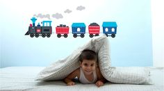 Train Wall Stickers - Children's Bedroom & Nursery Interiors | Little Blue Owl