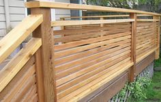 Well Designed Deck Railing Ideas for your Beautiful Porch and Patio! - Home Decor Ideas Horizontal Deck Railing, Deck Stair Railing, Deck Railing Design, Wood Railing, Deck Design, Porch Railings, Balcony Railing, Wood Balusters, Patio Stairs