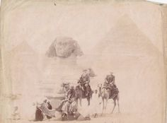 On camels in front of the sphinx, From: Togda Zine History Of Photography, Time Photo, Camels, Giza, Vintage Travel Posters, Old World, Places To See, Black And White, Antiques