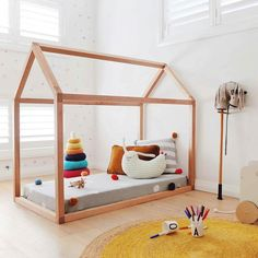 I have my eye on this stunning bed from @thislittlelove_au for Sylvie's new room. Look at that beautiful real wood. And hello sweet stripey Peter Rabbit from OYOY who you can also find on our virtual shelves x www.milktooth.com.au