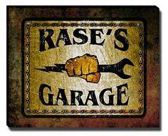 Rase's Garage Stretched Canvas Print ZuWEE…