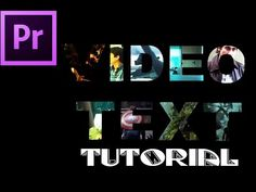 Video Text Tutorial ( Premiere Pro ) - YouTube