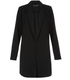 Black Crepe Duster Coat