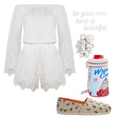"""""""Whip Cream"""" by bitty-junkkitty ❤ liked on Polyvore featuring TOMS, The Jetset Diaries, PBteen and Betsey Johnson"""