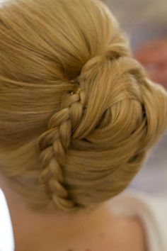 Hair style - Braid around a bun