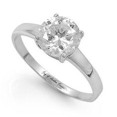 1.25CT Round Cut Solitaire Russian Lab Diamond Engagement Ring